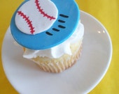 Baseball Fondant Cupcake Topper for Summer Parties and Birthday Parties