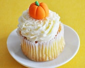 3d Pumpkin Fondant Cupcake Toppers for Autumn Parties, Halloween, and More