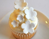 Gum Paste Flower Cupcake Toppers for Weddings Showers and Other Occasions