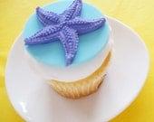 3D Starfish Fondant Cupcake Topper for Beach Parties, Luaus, and Birthdays
