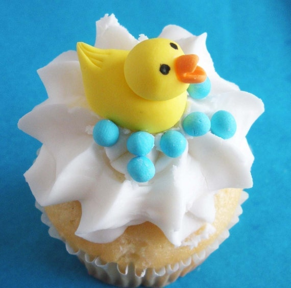 rubber duck wedding cake toppers items similar to fondant cupcake and cake topper 3d rubber 19439