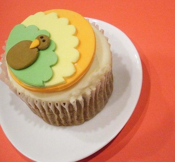 Thanksgiving Turkey Fondant Cupcake Toppers  Thanksgiving Tu...