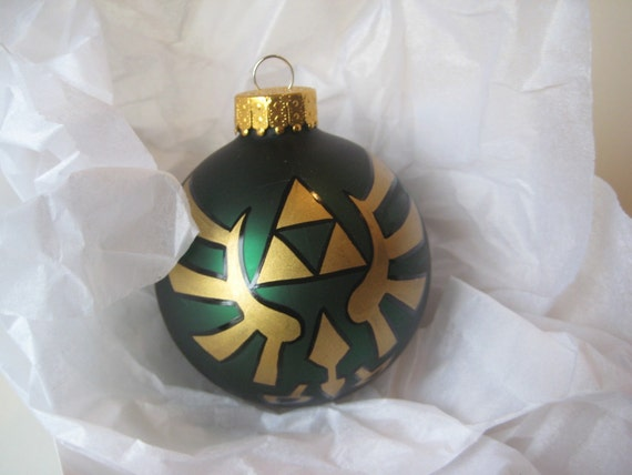 Legend of Zelda Triforce Glass Ornament