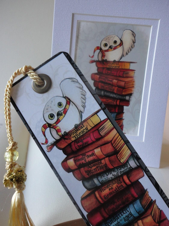 Harry Potter Bookmarks : Harry potter bookmark matted print set