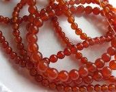 10mm Carnelian Round Beads - 16 inch strand
