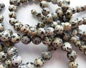 10mm Dalmation Jasper Round Beads - 16 inch strand