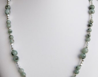 Sesame Jasper Bead Necklace