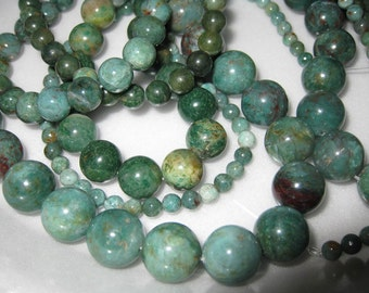10mm African Jade Round Beads - 16 inch strand
