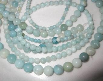 4mm Amazonite Round Beads - 16 inch strand