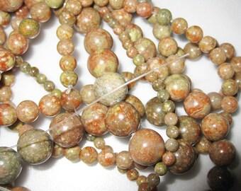 10mm Autumn Jasper Round Beads - 16 inch strand
