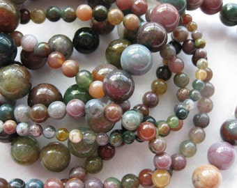 4mm Fancy Jasper Round Beads - 16 inch strand