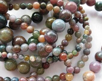 8mm Fancy Jasper Round Beads - 16 inch strand