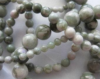 10mm Peace Jade Round Beads - 16 inch strand