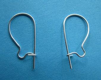 Pkg 10 Sterling Silver Kidney Earwires - 5 Pair