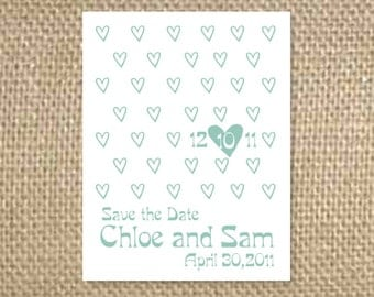 Make Your Calendar Save the Date, Heart Save the Date, Wedding Save the Date, Modern Save the Date, Vintage Save the Date, Calendar, Blue