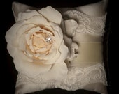 Lace Ring Bearer Pillow - French Bouquet