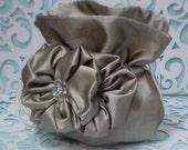 Flower Girl Basket/Handbag-Blooming Crystal Satchel