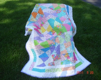 Bright, Funky, Toddler Bed Quilt