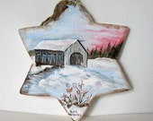Winter Decoration Wood Star