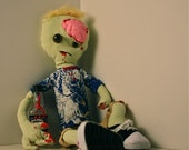 Stuffed Hipster Zombie Doll