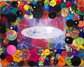 """RESERVED For Lisa - Peace Symbol Themed Button Picture Frame for 4""""x6"""" Photo"""