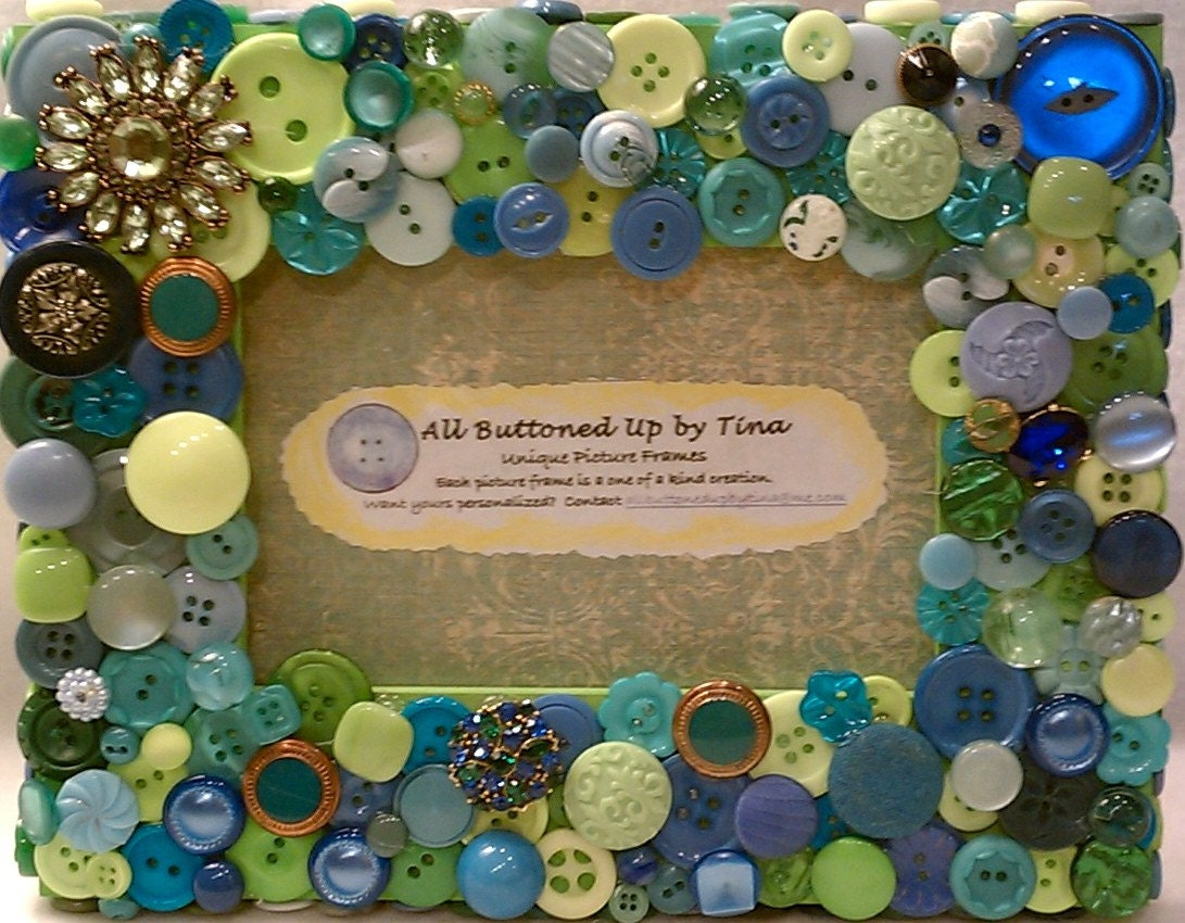 Button Picture Frame For 4x6 Photo