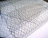Gray French netting - 9-inch wide, for DIY birdcage veils, fascinators