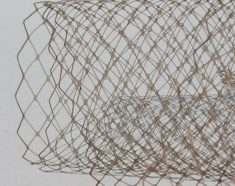 Coffee Brown  French netting fabric - for DIY birdcage veils and fascinators - 9 inch wide