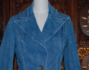 70s Clouds  denim jacket