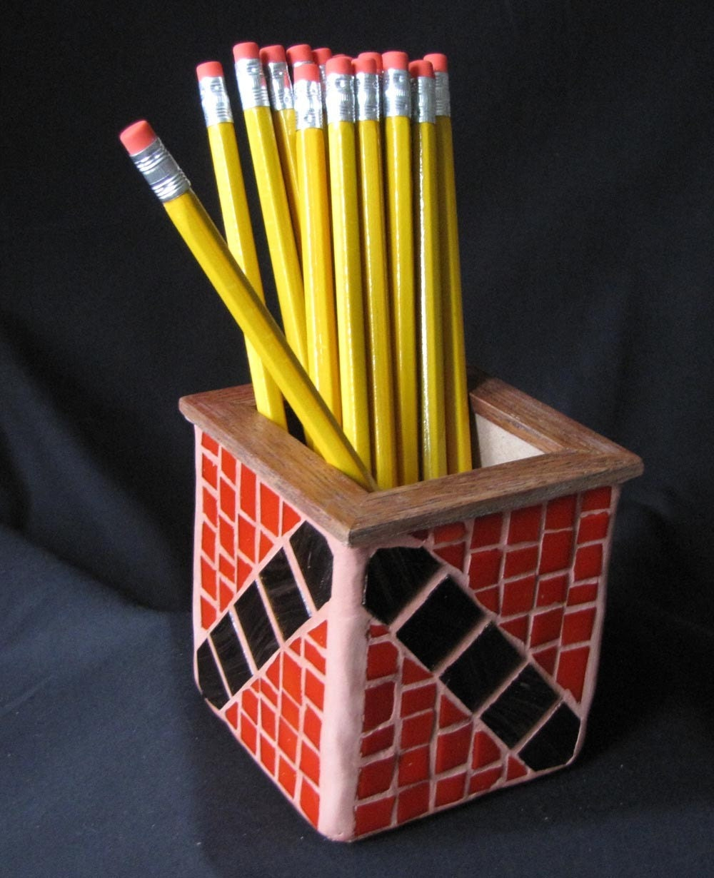 Mosaic Pencil Holder Desk Accessory By Mosaicillusions On Etsy