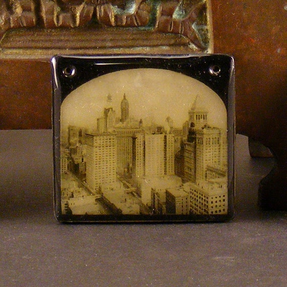 Polymer Faux Glass Slide NYC Lower Manhattan 1912
