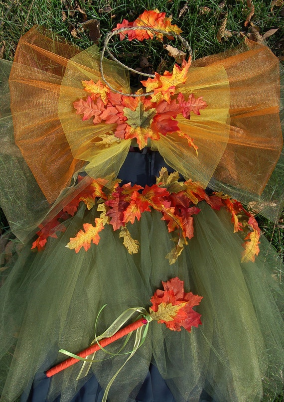 Adult Teen Autumn Leaf Fall Fairy Costume