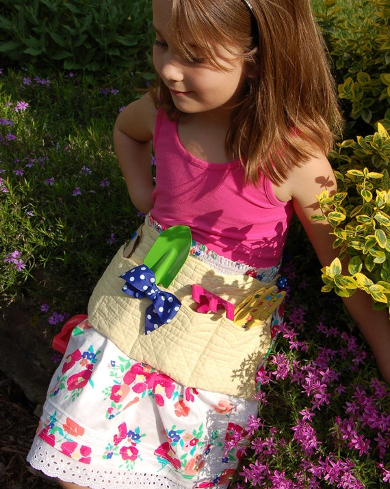 Upcycled Yellow Quilted Gardeners Apron