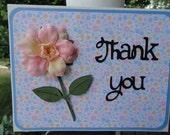 Thank You, Flower fancy, Handmade Card