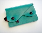 Poppys leather Pouch/Purse for Cash Coins Notes and Cards