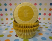 60 Very Pretty and Unique Yellow Mustard Fleur De Lys Flower Cupcake or Muffin Liners
