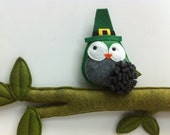 Give a SWEET TWEET, The original brooch St. Patricks Day Edition