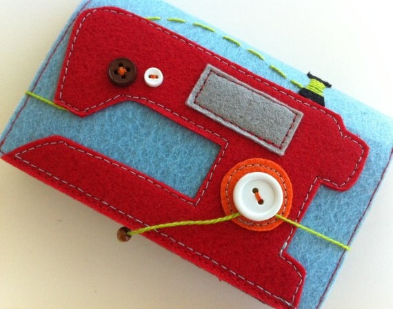 The original sewing machine Needle case (Blue/Red)