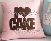 Custom Listing. I Love Cake. Cozy Tea Time. Pastel Colors Choice