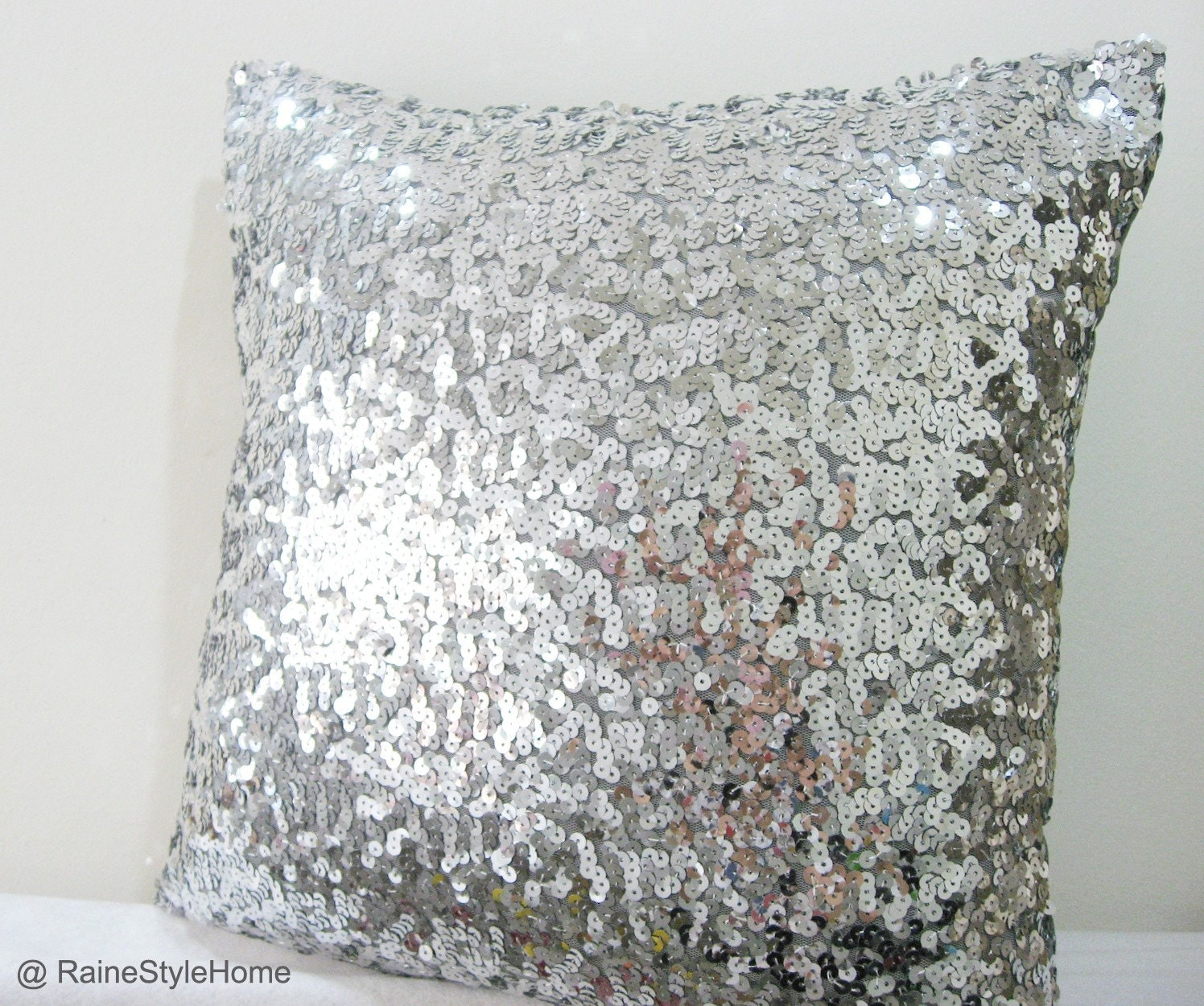 Starry Night. Luxury Glamour. 17inch Silver Sequins