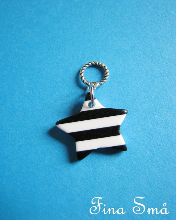 SALE LAST CHANCE Striped Star Blythe Pull Charm