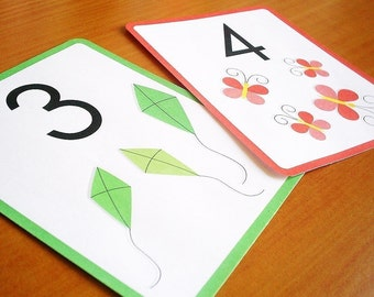 Printable number flashcards - downloadable PDF