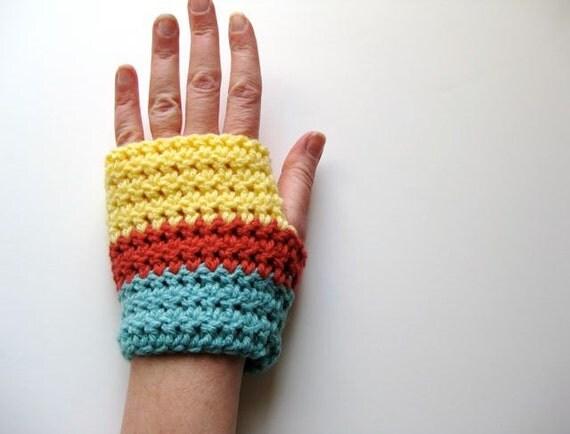 handwarmers.  color block.
