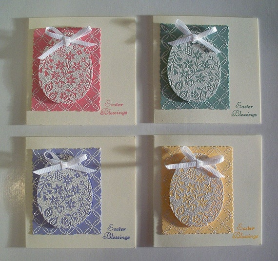 Easter Note Cards or Tags Stampin Up ORNATE ORNAMENTS – Easter Cards Stampin Up