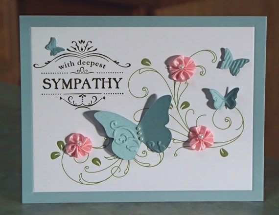 Handmade Sympathy Card, Stampin' Up Thanks for Caring