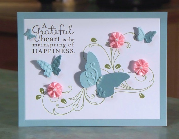 Handmade Thank You Card, Stampin' Up Pursuit of Happiness