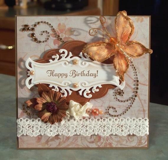 Birthday Card, Shabby Chic Something to Celebrate