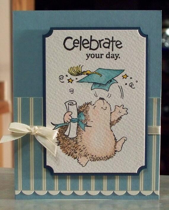 graduation card penny black hedgehog celebration