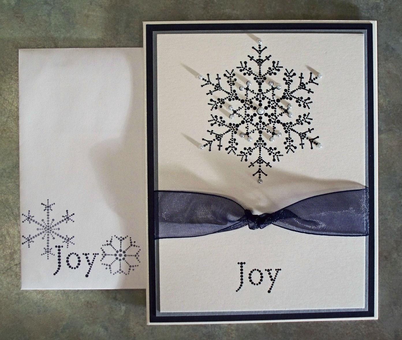 The Snowflake Spot Embossed Handmade Christmas Card Using