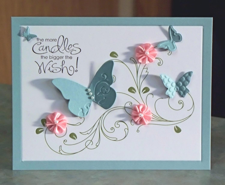 Бабочка раскладушка для открытки